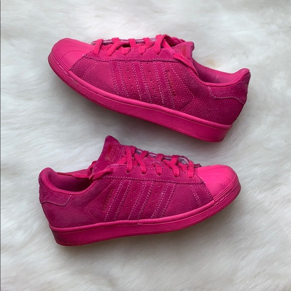 Adidas Originals Pink Superstar J Shoe